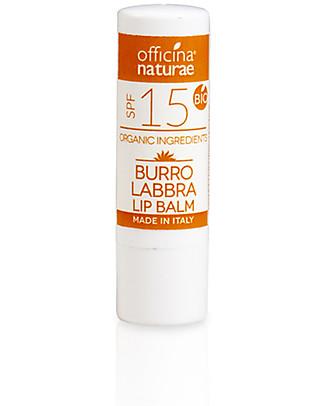 Officina Naturae Burro Labbra Bio Solare SPF 15 - Protezione Media Viso