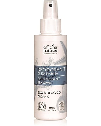 Officina Naturae Deodorante Spray Eco Biologico, Onda Marina - 100 ml Deodoranti
