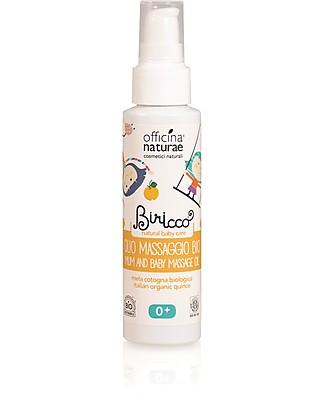 Officina Naturae Massaggio Olio Baby alla Mela Cotogna Bio, 100 ml - Addolcente e protettivo Creme ed Olii Baby