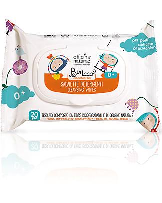 Officina Naturae Salviette Detergenti alla Mela Cotogna Bio, 20 pezzi Salviette