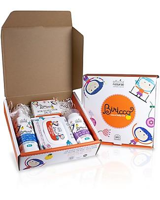 Officina Naturae Set Regalo Baby Biricco 6m - Comprende 4 fantastici prodotti bio per il bebè! Kit Toilette Neonato