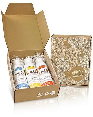 Officina Naturae Set Regalo EcoBio Natù - 3 fantastici prodotti naturali per il corpo! Bagno Doccia Shampoo