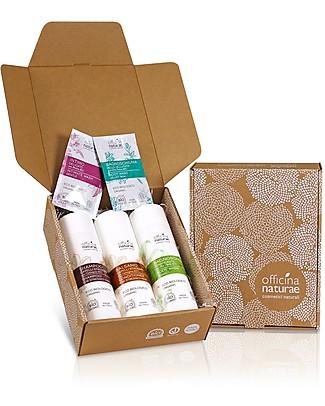 Officina Naturae Set Regalo Via lo Stress - 3 fantastici prodotti naturali per ridare forza a corpo e capelli! Bagno Doccia Shampoo