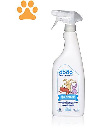 Officina Naturae Spray Igienizzante Ecologico per Cuccia, Lettiera e Superfici Lavabili, 250 ml Animali Igiene