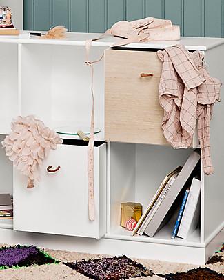 Oliver Furniture 3 Contenitori per Scaffali della Linea Wood, Quercia/Bianco – Double Face! Mensole
