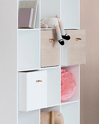 Oliver Furniture 5 Contenitori per Scaffali della Linea Wood, Quercia/Bianco – Double Face! Mensole