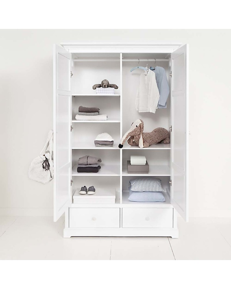 oliver furniture armadio due ante, bianco - perfetto per la