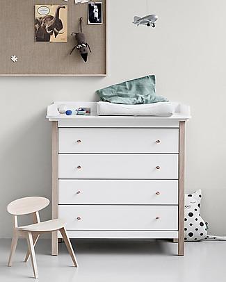 Oliver Furniture Cassettiera/Fasciatoio linea Wood, Naturale – Piano amovibile, perfetta anche per gli adulti! Cassettiere