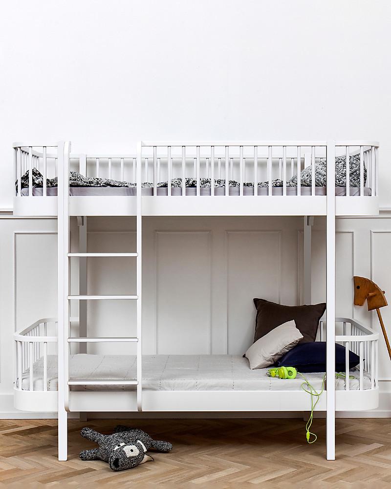 Letto A Castello In Legno Bianco.Oliver Furniture Letto A Castello In Legno Linea Wood Bianco