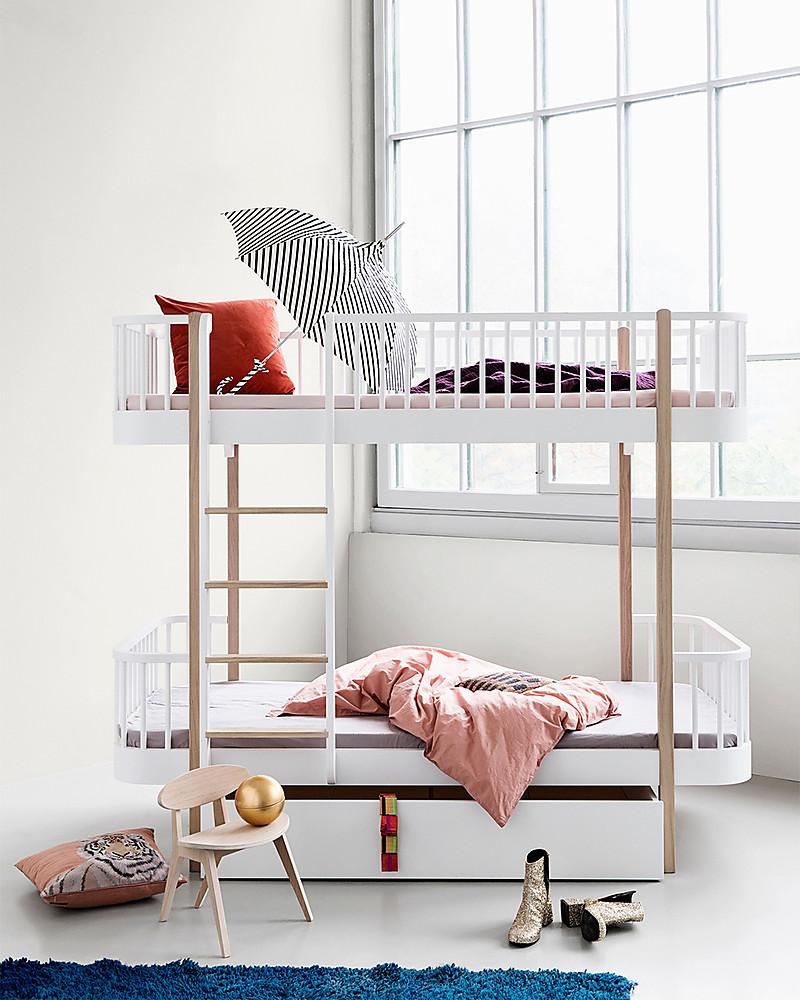 Letto A Castello 90.Oliver Furniture Letto A Castello In Legno Linea Wood Quercia