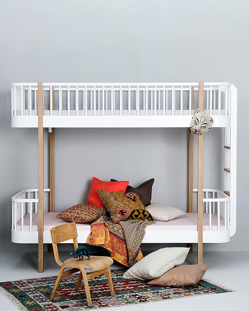 Oliver Furniture Letto a Castello in Legno linea Wood, Quercia/Scala ...