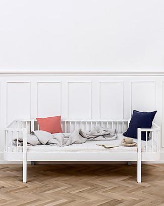 Oliver Furniture Letto-divano in Legno linea Wood, Bianco, 90x200 cm - Struttura modulare e trasformabile Letti Singoli