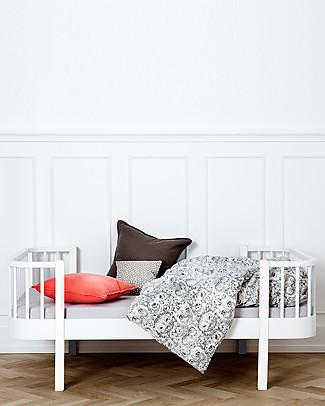 Oliver Furniture Letto Junior linea Wood, Bianco, 90x160 cm - Struttura modulare e trasformabile Letti Singoli