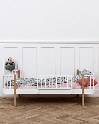 Oliver Furniture Letto Singolo in Legno linea Wood, Quercia, 90x200 cm - Struttura modulare e trasformabile Letti Singoli