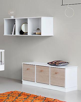 Oliver Furniture Scaffale Orizzontale con Supporto 3x1, Linea Wood – Da appendere al muro! Mensole