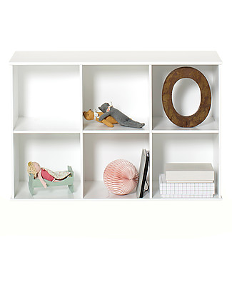 Oliver Furniture Scaffale Orizzontale con Supporto 3x2, Linea Wood – Da appendere al muro! Mensole