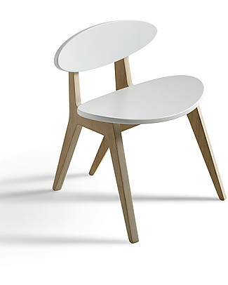 Oliver Furniture Sedia per Bambini, linea Ping Pong, Quercia/Bianco Sedie