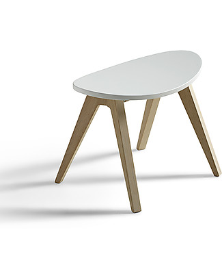Oliver Furniture Sgabello per Bambini, linea Ping Pong, Quercia/Bianco Sedie