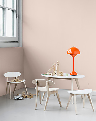 Oliver Furniture Tavolino per Bambini, linea Ping Pong, Quercia/Bianco Tavoli