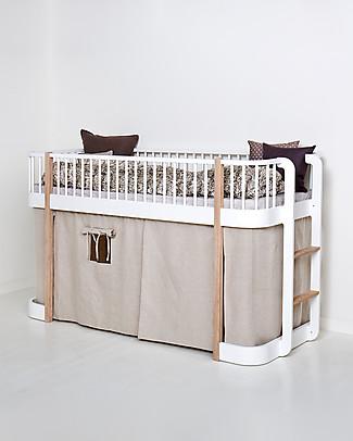 Oliver Furniture Tenda per Letto a Soppalco Basso linea Wood, Naturale Letti a Castello