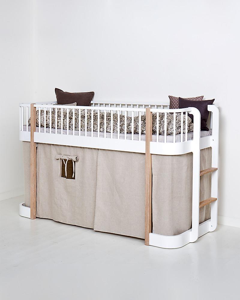 Letto A Castello Tromso.Oliver Furniture Tenda Per Letto A Soppalco Basso Linea Wood