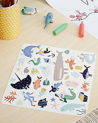 Olli Ella 105 Adesivi Playpa, Oceans - Colorati e Divertenti! Adesivi e Timbri
