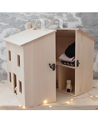 Olli Ella Casa delle Bambole, Natural - Leggera e Trasportabile! Case delle Bambole