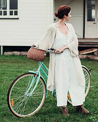 Olli Ella Cestino in Rattan Chari Mama 28 x 19 x 18 cm, Naturale - Da borsa a cestino per bici! Borse Shopper