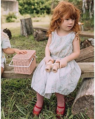Olli Ella Cestino Piki, Rosa 23 x 15 x 15 cm - Fair trade, fatto a mano! null