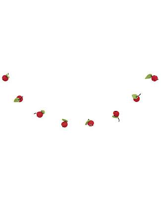 Olli Ella Ghirlanda Decorativa di Frutti in Feltro, Rosso – Fatta a mano! Festoni