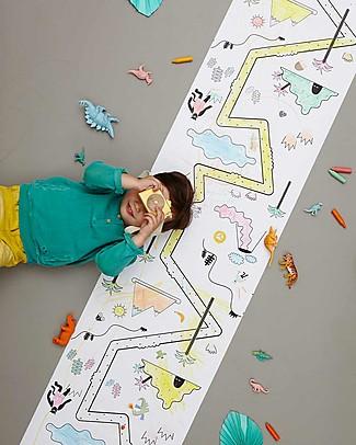 Olli Ella Poster da Colorare, Giungla - Rotolo Lungo 8 metri! Colorare