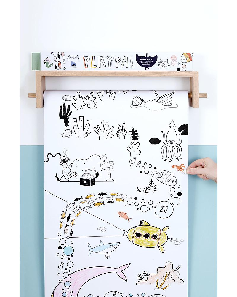 Olli Ella Poster Da Colorare Oceano Rotolo Lungo 8 Metri Unisex Bambini
