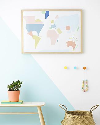 Olli Ella Poster per Cameretta Mappa del Mondo– Formato 50 x 70 cm! Posters