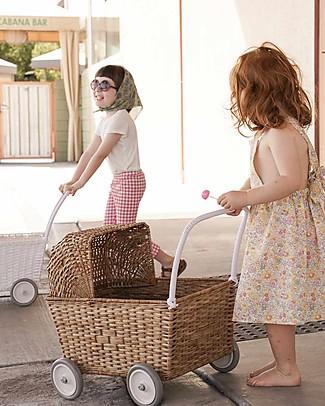 Olli Ella Strolley, Carrozzina per Bambole, Vimini - Natural Carrozzine