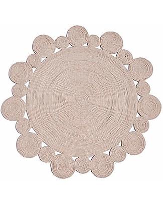 Olli Ella Tappeto di Lana - Fantasia Circolare - 100% Lana della Nuova Zelanda Tappeti