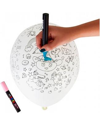 Omy 5 Palloncini con Illustrazioni da Colorare  Decorazioni