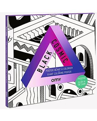 Omy Black Cosmic - Poster Gigante da Colorare (100 x 70 cm) - Si illumina al buio! Posters
