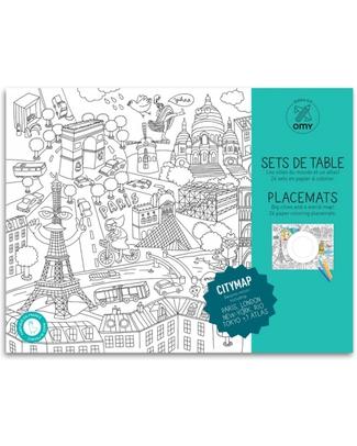Omy Citymap - Tovagliette da Colorare 24 pezzi -stampa ecologica su carta riciclata! Posters
