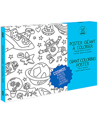 Omy Cosmos Colouring Poster (70 x 100 cm) - Printed on recycled paper! Colouring Activities