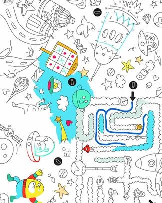 Omy Games - Tovagliette da Colorare 24 Pezzi - Stampa ecologica su carta riciclata! Colorare