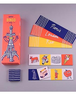 Omy Gioco del Bingo Illustrato - 12 Cartelle con Illustrazioni del Mondo! Regalini
