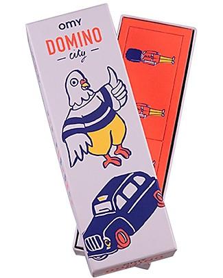 Omy Gioco del Domino - 28 Tessere con Illustrazioni del Mondo! Regalini