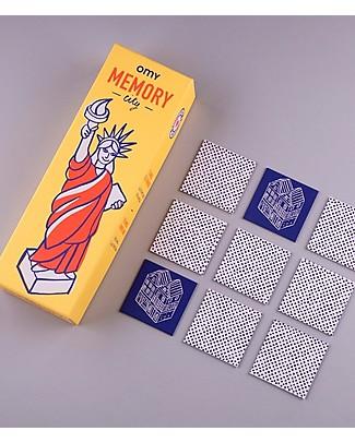 Omy Gioco Memory - 56 Carte con Illustrazioni del Mondo! Giochi Da Tavolo