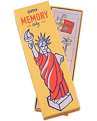 Omy Gioco Memory - 56 Carte con Illustrazioni del Mondo! Regalini