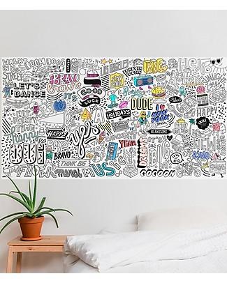 Omy Happy - Poster XXL da Colorare (180 x 100 cm) - Stampa ecologica su carta riciclata! Colorare