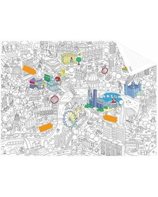Omy Mappa Tascabile da Colorare - Londra (carta riciclata double-face!) Colorare