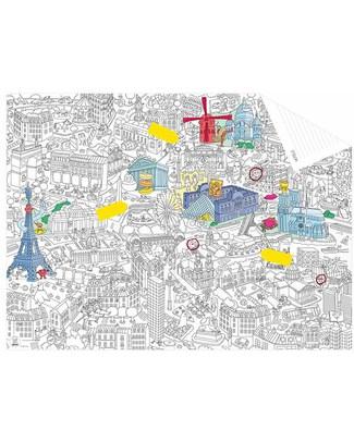 Omy Mappa Tascabile da Colorare - Parigi (carta riciclata double-face!) Colorare