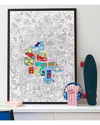 Omy Party - Poster Gigante da Colorare (100 x 70 cm) - Stampa ecologica su carta riciclata! Posters