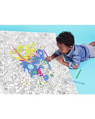 Omy Poster da Colorare, Cosmo (70 x 100 cm) - Stampa ecologica su carta riciclata! Colorare