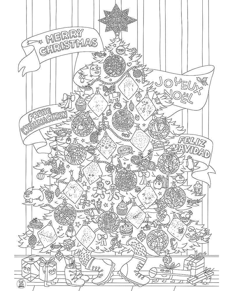 Omy Poster Gigante Da Colorare Di Natale 70 X 100 Cm